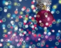 Świąteczny nowego roku congratulati Obraz Royalty Free