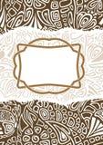 Świąteczny pocztowy jest z czułym dekoracyjnym wzorem Zdjęcia Royalty Free