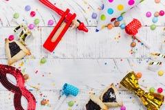 Świąteczny przyjęcie, karnawał lub Purim wakacje tło, zdjęcie stock