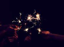Świąteczny sparklers oparzenie Zdjęcie Royalty Free