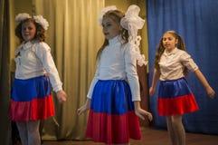 Świąteczny spotkanie i koncert na 9 możemy 2017 w Kaluga regionie Rosja Zdjęcia Stock