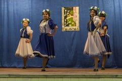 Świąteczny spotkanie i koncert na 9 możemy 2017 w Kaluga regionie Rosja Obraz Stock