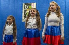 Świąteczny spotkanie i koncert na 9 możemy 2017 w Kaluga regionie Rosja Zdjęcie Royalty Free