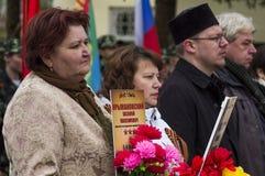 Świąteczny spotkanie może 9, 2017, w Kaluga regionie Rosja Obrazy Royalty Free