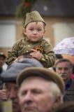 Świąteczny spotkanie może 9, 2017, w Kaluga regionie Rosja Obraz Royalty Free