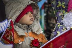 Świąteczny spotkanie może 9, 2017, w Kaluga regionie Rosja Fotografia Royalty Free