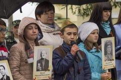 Świąteczny spotkanie może 9, 2017, w Kaluga regionie Rosja Zdjęcia Royalty Free