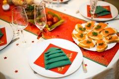 Świąteczny stół zdjęcie royalty free