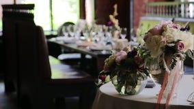 świąteczny stołowy ślub zbiory wideo