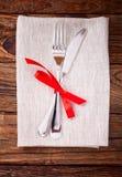 Świąteczny stołowy położenie Obraz Royalty Free