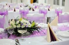 Świąteczny stołowy położenie stół Zdjęcia Royalty Free