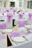 Świąteczny stołowy położenie stół Obrazy Stock