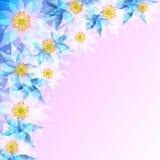 Świąteczny tło z abstrakcjonistycznymi kwiatami Obraz Royalty Free