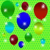 Świąteczny tło z balonami. Fotografia Royalty Free