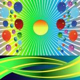Świąteczny tło z balonami. Obrazy Royalty Free