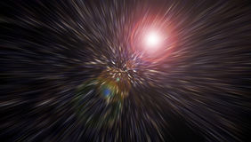 Świąteczny tło Z Naturalnym Bokeh I Jaskrawymi czerwonymi światłami Magiczny tło z kolorowym bokeh Zdjęcia Royalty Free