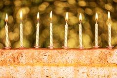 Świąteczny tort dla nowego roku ` s wigilii Fotografia Royalty Free