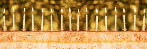 Świąteczny tort dla nowego roku ` s wigilii Fotografia Stock