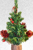 Świąteczny zielony drzewo Obrazy Royalty Free