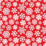 Świątecznych bożych narodzeń i nowego roku snoflakes bezszwowy wzór ilustracja wektor