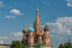 Świątobliwa basil katedra na placu czerwonym w Moskwa Obrazy Royalty Free