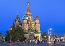 Świątobliwa basilu ` s katedra w Moskwa Obrazy Royalty Free