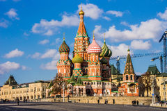 Świątobliwa basilu ` s katedra w placu czerwonym, Moskwa Zdjęcie Stock