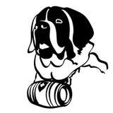 Świątobliwa bernarda psa wektoru eps ręka rysująca, wektor, Eps, logo, ikona, sylwetki ilustracja crafteroks dla różnego używa ilustracji
