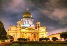 Świątobliwa Isaac katedra w Świątobliwym Petersburg fotografia royalty free