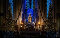 Świątobliwa Maria rzeźba w Katolickiej katedrze, zdjęcie stock