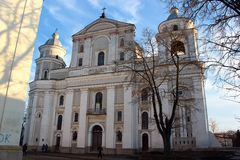 Świątobliwa Peter i Paul katedra w Lutsk, Ukraina zdjęcia royalty free