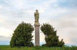 Świątobliwa Roch lub Rocco statua Katolicki święty spowiednik zdjęcia royalty free
