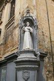 Świątobliwa statua, Valletta ulicy, Malta Zdjęcia Stock