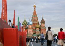 Świątobliwi basile Katedralni w Moskwa Fotografia Stock