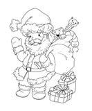 świątobliwy Claus czarny biel e royalty ilustracja