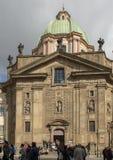 Świątobliwy Francis Assisi kościół, rycerz Przecinający kwadrat, Praga, republika czech zdjęcia royalty free