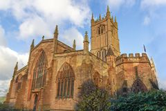 Świątobliwy Laurence kościół w Ludlow, Anglia obrazy royalty free