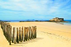 Świątobliwy Malo Fortu Obywatel. Brittany, Francja Fotografia Royalty Free