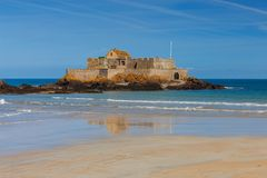 Świątobliwy Malo Fortu obywatel na wyspie Zdjęcie Stock