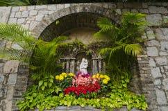 Świątobliwy Mary statua w Fortaleza robi Monte, Macau zdjęcia stock
