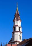 Świątobliwy Nicholas Ortodoksalnego kościół steeple Zdjęcie Stock