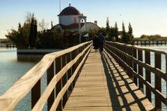 Świątobliwy Nikolaos monaster. Porto Lagos teren przy Thrace, Grecja. Zdjęcia Stock