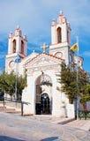 Świątobliwy pantaleon kościół w wiosce Siana, Rhodes Fotografia Stock