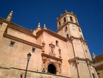 Świątobliwy Patrick kościół w Lorca mieście podczas Świątobliwego patrickdnia w Hiszpania kwadracie fotografia royalty free