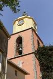 Świątobliwy Tropez, farny kościół, Południowy Francja, Europa Zdjęcie Royalty Free