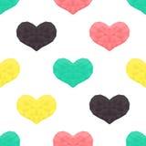 Świątobliwy walentynka dnia bezszwowy wzór Tło z sercami Zdjęcia Stock