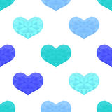 Świątobliwy walentynka dnia bezszwowy wzór Tło z sercami Zdjęcie Stock