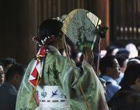 Świątyni dziewczyna w Japonia Obrazy Royalty Free
