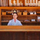 Świątyni dziewczyna w Osaka, Japonia Obraz Stock