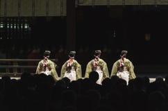 Świątyni dziewczyny w Japonia Zdjęcia Royalty Free